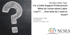 NCSEA's Law Series: Making Sure Your Child Support Workplace Complies with Employment Laws Part 1 - Labor Law 101 for the Child Support Professional