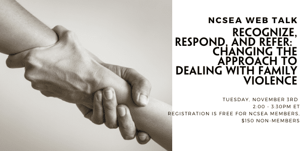 Recognize, Respond, and Refer: Changing the Approach to Dealing with Domestic Violence