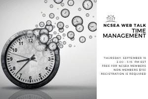 NCSEA Web Talk: Time Management