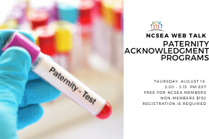 NCSEA Web Talk: Paternity Acknowledgment Programs